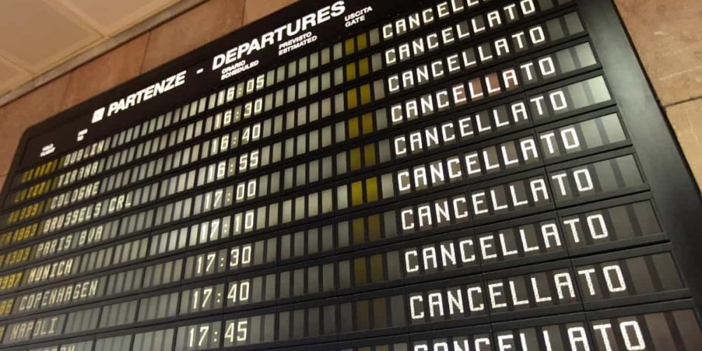 Aeroporto di Palermo: Volo Cancellato Alitalia AZ 1784 del 08.03.19